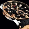 Ulysse Nardin Titanium and Rose Gold Maxi Diver Ref. 265-90-3/92