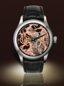 Tavannes Skeleton Rose with Black Chapter