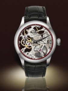 Tavannes Skeleton Silver with Red Chapter