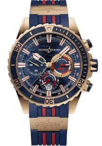 Ulysse Nardin Diver Chronograph Hammerhead Shark Limited Edition Rose Gold